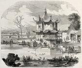 Yuan-Ming-Yuan pavilion — Stock Photo