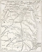 American civil war theater old map. — Stock Photo