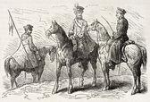 Polish cavalrymen — Stock Photo