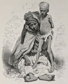 Algeria famine bis — Stock Photo
