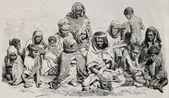 Algeria famine — Stock Photo