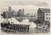 Charleroi riot repression — Stock Photo