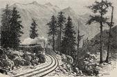 Mont Cenis Railroad — Stock Photo