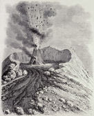 Vesuvius eruption — Stock Photo