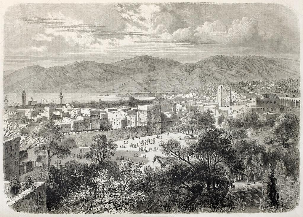 Beirut old view, Lebanon. Created by Blanchard, published on L'Illustration, Journal Universel, Paris, 1860 — Stock Photo #13294963