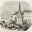 Gournay market place — Stock Photo