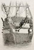 Proa del buque — Foto de Stock