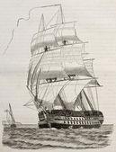 Savaş gemisi — Stok fotoğraf