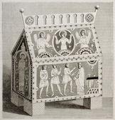 拜占庭式的漆包的框 — 图库照片