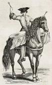 Drummer op een paard — Stockfoto