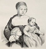 Holbein family — Stock Photo