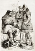 Charlemagne soldiers — Stock Photo