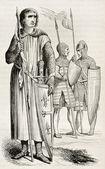 Ter trajes medievais — Fotografia Stock