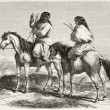 Stock Photo: Comanche Indians