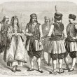 Montenegrin costumes - Stock Photo