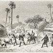 Raid in central African village — Stock Photo #13330373