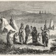 Stock Photo: Sioux encampment