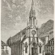Stock Photo: Plombieres-les-Bains church