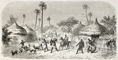 Raid in central African village — Stock Photo