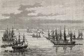 French-British fleet — Stock Photo
