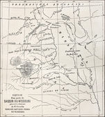 Missouri basin map — Stock Photo