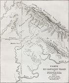 Nebraska badlands map — Stock Photo