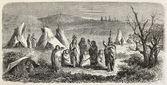 Sioux encampment — Stock Photo