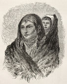 Sioux mother and son — Stock Photo