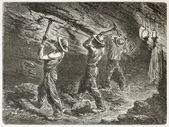 煤矿工人 — 图库照片
