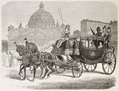Papal carriage — Stock Photo