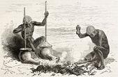 Tribal blacksmiths — Stock Photo