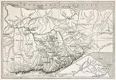 存在する kabylie 地図 — ストック写真