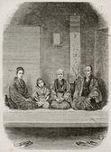 Merchants family — Stock Photo