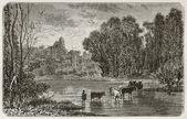 Montigny-sur-Loing — Stockfoto