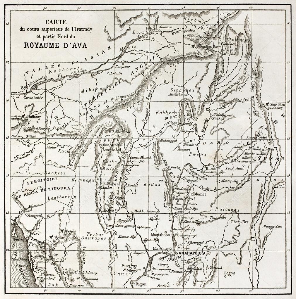 Город находится на сухом плато вдоль западного берега реки иравади, к юго-востоку от мандалая, недалеко от города