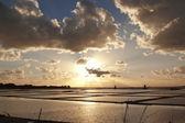 закат на солеварня — Стоковое фото