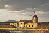 Windmill at sunset — Stock Photo