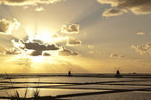 Sonnenuntergang auf saline quinquies — Stockfoto