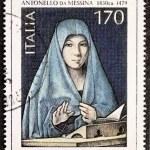 Постер, плакат: Virgin Annunciate postage stamp