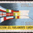 European elections postage stamp — Stock Photo