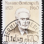 Постер, плакат: Massimo Bontempelli postage stamp