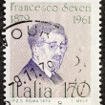 Постер, плакат: Francesco Severi postage stamp