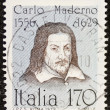 Carlo Maderno postage stamp — Stock Photo