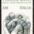 Telecommunications postage stamp — Stock Photo