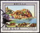 Scilla postage stamp — Stock Photo