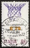 Basket postage stamp bis — Stock Photo