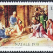 Nativity scene postage stamp  — Stock Photo