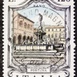 Fontana della Fortuna postage stamp — Stock Photo