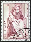 マドンナ即位切手 — ストック写真