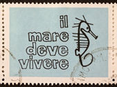 Sea must live postage stamp — Photo